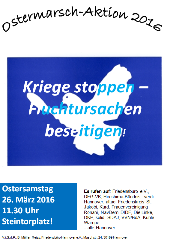 Ostermarsch 2016 in Hannover – Steintor 11.30 Uhr