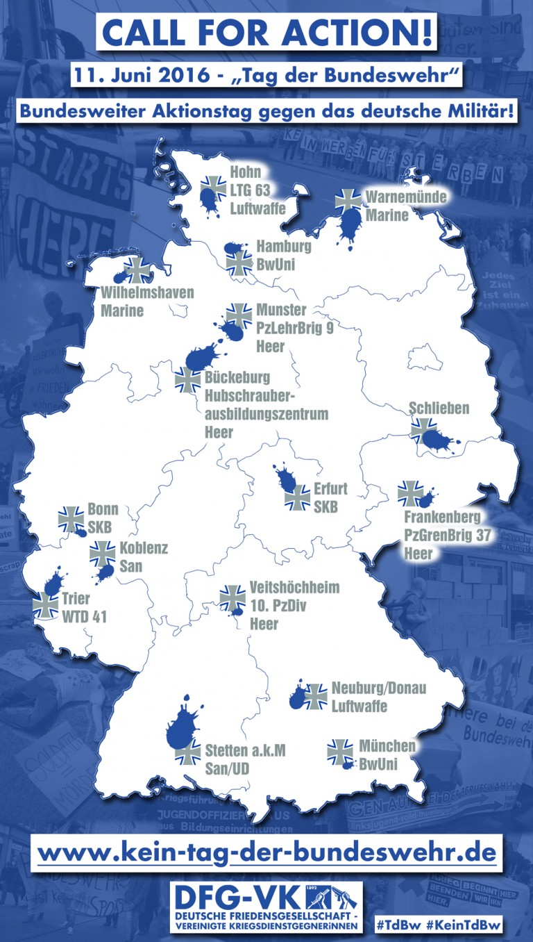 Kein Tag der Bundeswehr – mit uns dagegen!