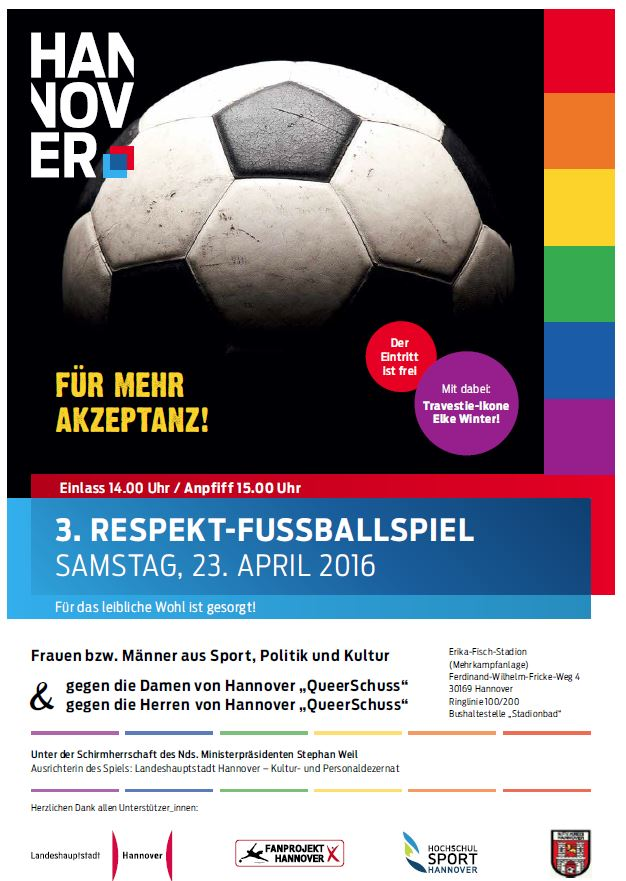 Fußball gegen Homophobie – Spiel in Hannover