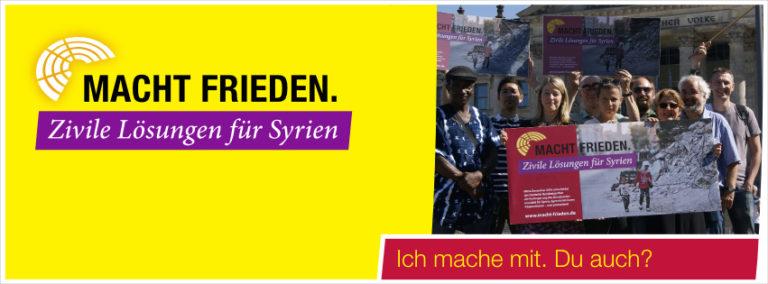urgent action: Macht Frieden!