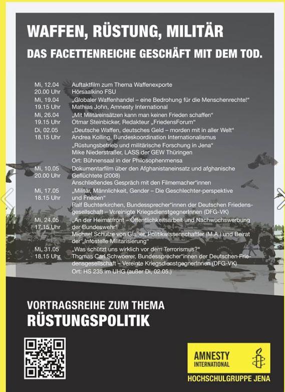 Vortrag am 17.5. in Jena: Militär, Männlichkeit, Gender – die Geschlechterperspektive und Frieden