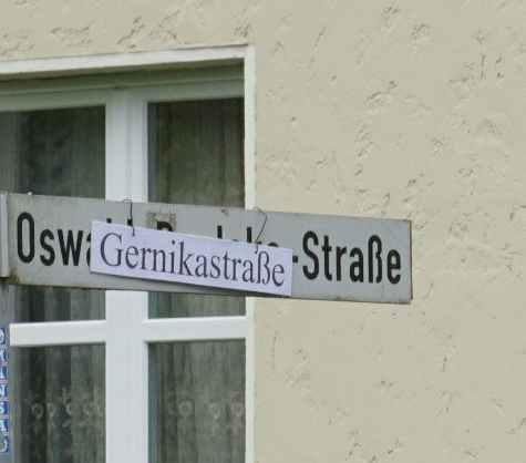 Umbenennung der Oswald-Boelcke-Straße in Gernikastraße in Wunstorf