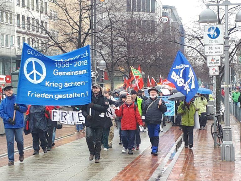 Friedensbewegung lautstark! – Ostermarsch 2018 in Hannover