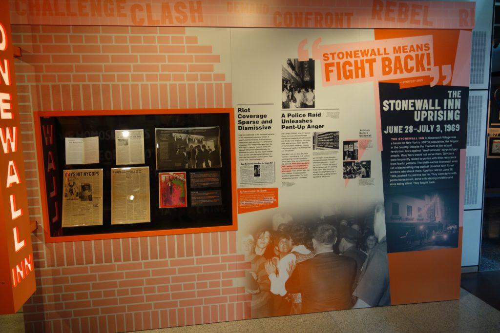 Stonewall was a Riot Ausstellung, Newsseum Washington DC